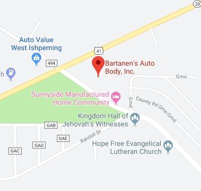 Visit Bartanen's Auto Body in Ishpeming, MI