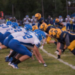 The Ishpeming Hematites playing against the Negaunee Miners in 2019.