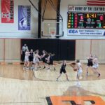 Escanaba Trying to get the Ball in the Post