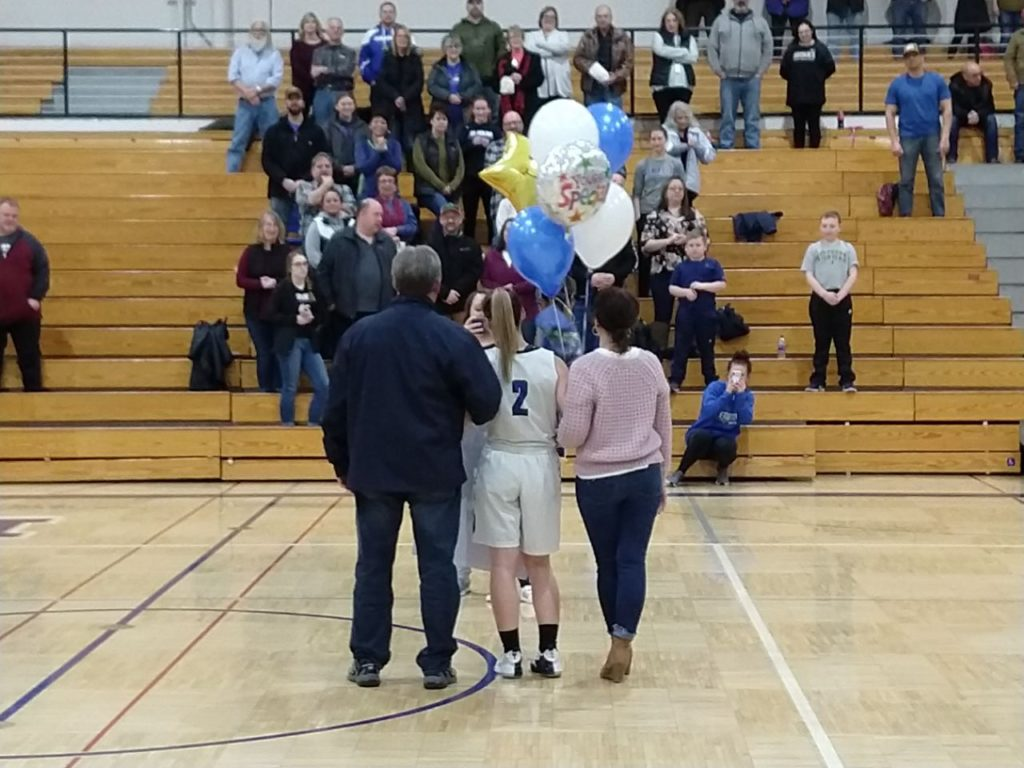 Emma Poirier on Senior Night