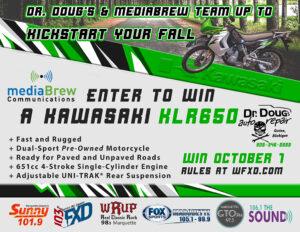 Win This Kawasaki KLR650 motorcycle!
