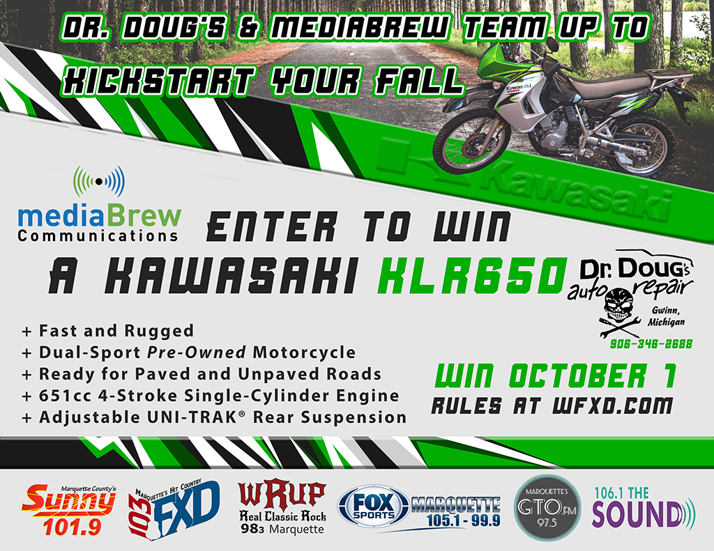 Win This Kawasaki KLR650 motorcycle!