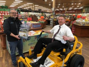 We had the Cub Cadet mower on display at Super One in Marquette!