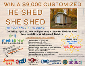 Register on the official He Shed She Shed Giveaway page today!