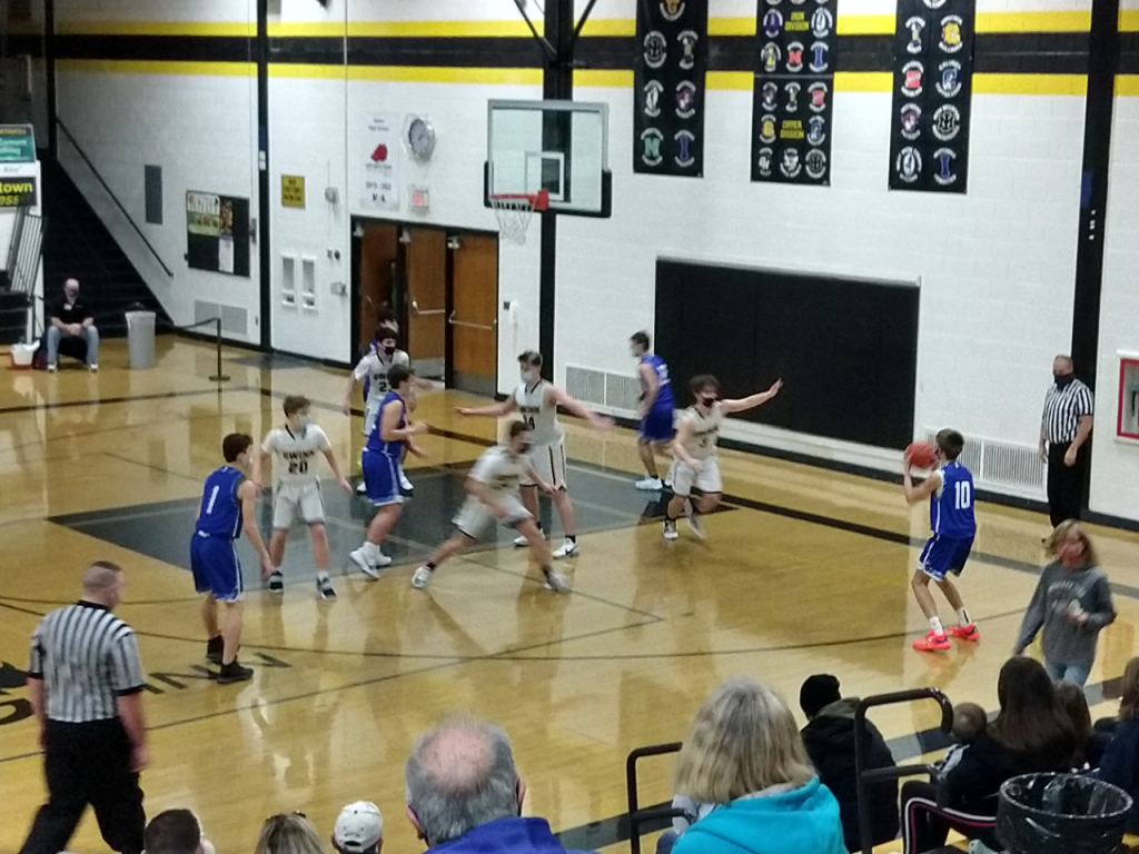 One of the many threes attempted in the game.