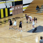 The Panthers take a free throw
