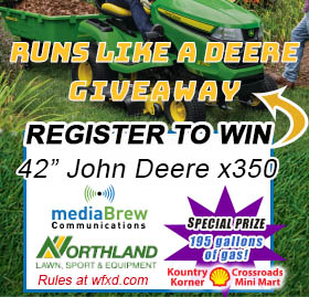 Win a John Deere x350 Riding Mower