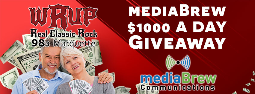 Listen for the keywords to win mediaBrew's $1000 A Day Giveaway