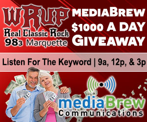 mediaBrew's $1000 a Day Giveaway on WRUP 98.3