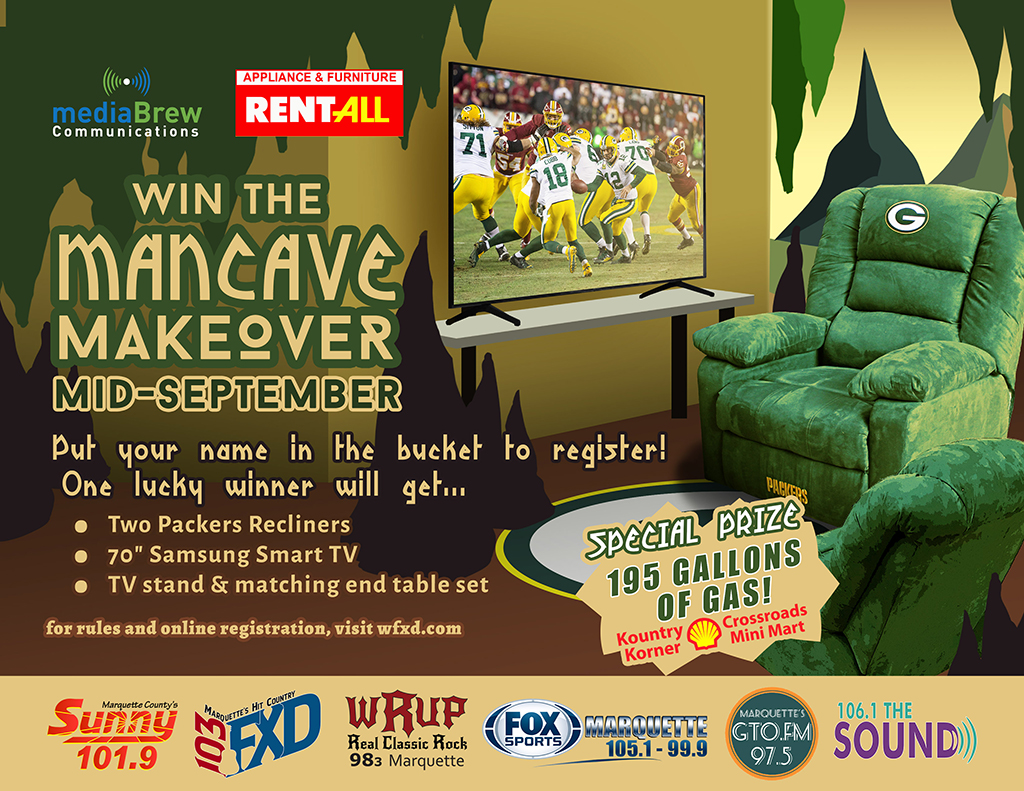 Enter to win the Man Cave Makeover!