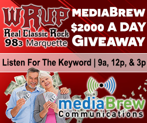 $2000 A Day Giveaway on WRUP 98.3
